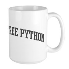 Green Tree Python (curve-grey Mug