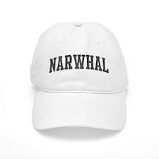 Narwhal (curve-grey) Baseball Cap