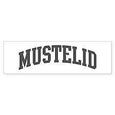 Mustelid (curve-grey) Bumper Bumper Sticker