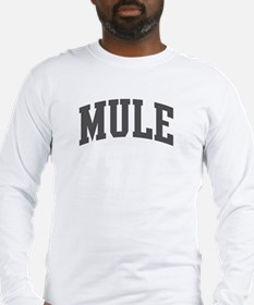 Mule (curve-grey) Long Sleeve T-Shirt