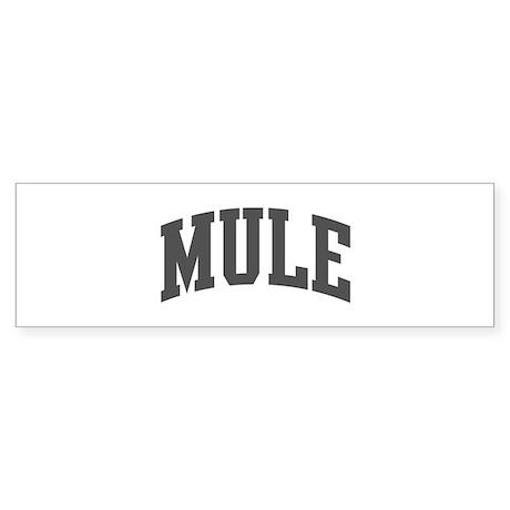 Mule (curve-grey) Bumper Sticker