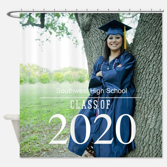 Custom Graduation Photo Class of 2017 Shower Curta
