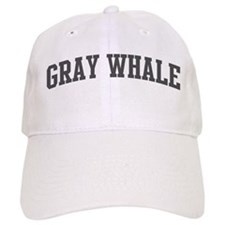 Gray Whale (curve-grey) Baseball Cap