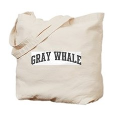 Gray Whale (curve-grey) Tote Bag