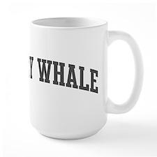 Gray Whale (curve-grey) Mug