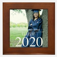 Custom Graduation Photo Class of 2017 Framed Tile