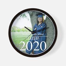 Custom Graduation Photo Class of 2017 Wall Clock