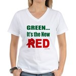 Green is Red Women's V-Neck T-Shirt