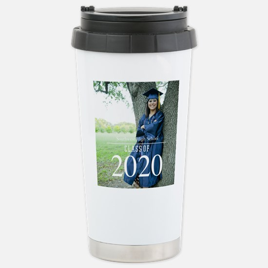 Custom Graduation Photo Class of 2017 Travel Mug