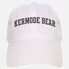 Kermode Bear (curve-grey) Baseball Baseball Cap