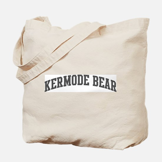 Kermode Bear (curve-grey) Tote Bag