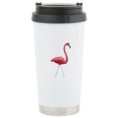 Retro Pink Flamingo Stainless Steel Travel Mug