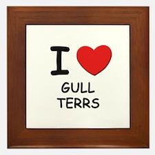 I love GULL TERRS Framed Tile
