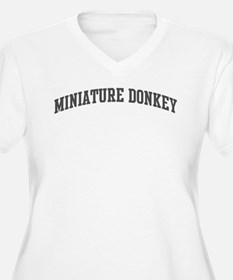 Miniature Donkey (curve-grey) T-Shirt