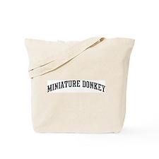 Miniature Donkey (curve-grey) Tote Bag