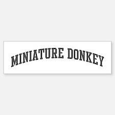 Miniature Donkey (curve-grey) Bumper Bumper Bumper Sticker