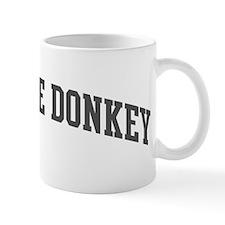 Miniature Donkey (curve-grey) Mug