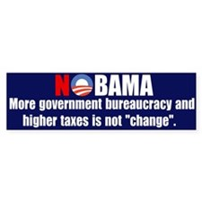 "NoBama ""change"" Bumper Bumper Sticker"