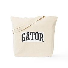 Gator (curve-grey) Tote Bag