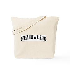 Meadowlark (curve-grey) Tote Bag