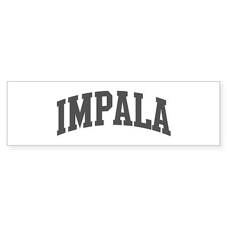 Impala (curve-grey) Bumper Sticker