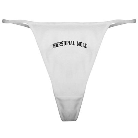 Marsupial Mole (curve-grey) Classic Thong