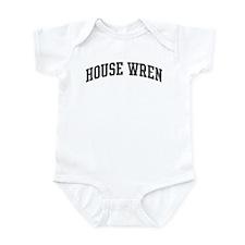 House Wren (curve-grey) Infant Bodysuit