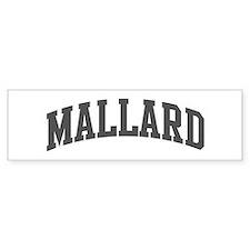 Mallard (curve-grey) Bumper Bumper Sticker