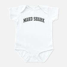 Mako Shark (curve-grey) Infant Bodysuit