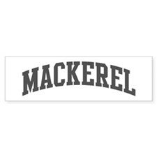 Mackerel (curve-grey) Bumper Bumper Sticker