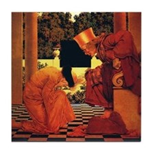 Maxfield Parrish King of Hearts Tile Coaster