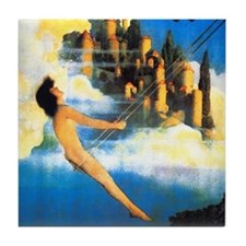 Maxfield Parrish Dinky Bird Tile Coaster