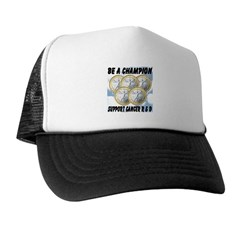 Be A Champion Support Cancer R&D Trucker Hat