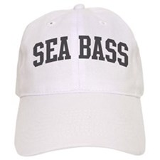 Sea Bass (curve-grey) Baseball Cap