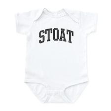 Stoat (curve-grey) Infant Bodysuit