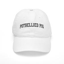 Potbellied Pig (curve-grey) Baseball Cap