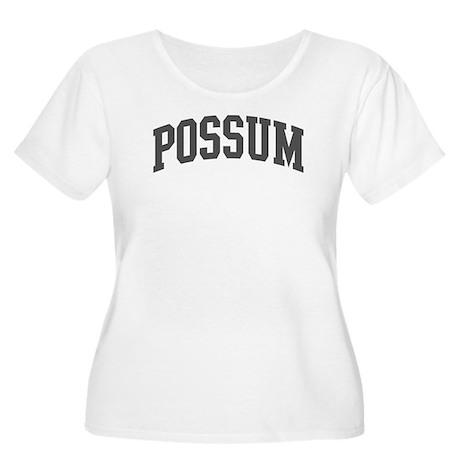 Possum (curve-grey) Women's Plus Size Scoop Neck T