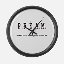 P.R.E.A.M. Large Wall Clock