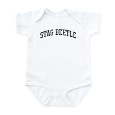 Stag Beetle (curve-grey) Infant Bodysuit