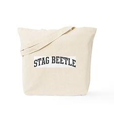 Stag Beetle (curve-grey) Tote Bag