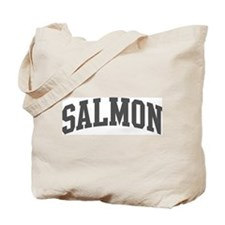 Salmon (curve-grey) Tote Bag