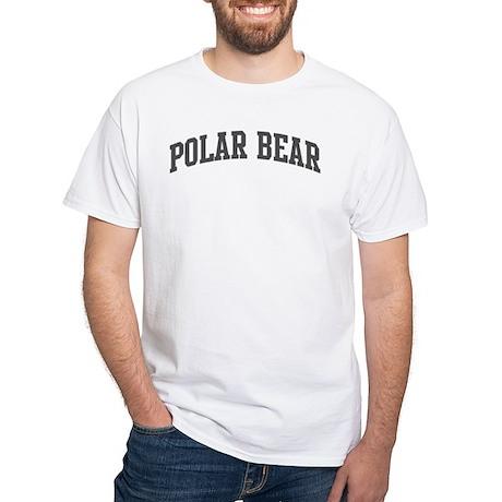 Polar Bear (curve-grey) White T-Shirt