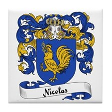 Nicolas Family Crest Tile Coaster