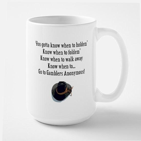 Gamblers Anonymous Large Mug