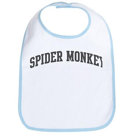 Spider Monkey (curve-grey) Bib