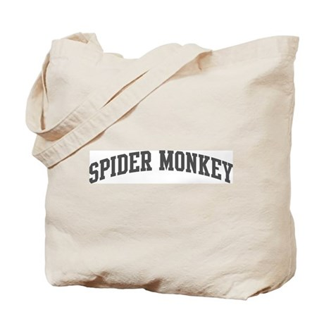 Spider Monkey (curve-grey) Tote Bag