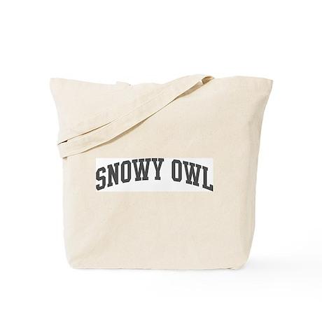 Snowy Owl (curve-grey) Tote Bag