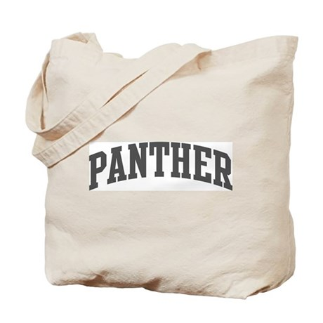 Panther (curve-grey) Tote Bag
