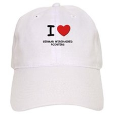 I love GERMAN WIREHAIRED POINTERS Baseball Cap
