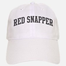 Red Snapper (curve-grey) Baseball Baseball Cap